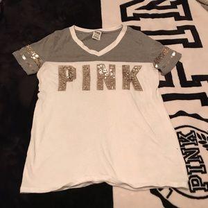 Vs pink v neck shirt